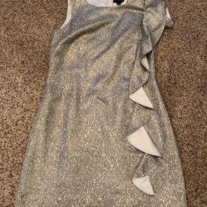 EUC Tahari gold shimmer dress